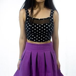 🎉6/$26🎉 FOREVER 21 Polka Dots Crop Top